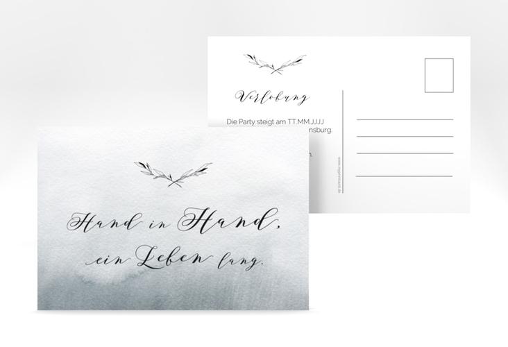 """Verlobungskarte Hochzeit """"Divine"""" A6 Postkarte"""