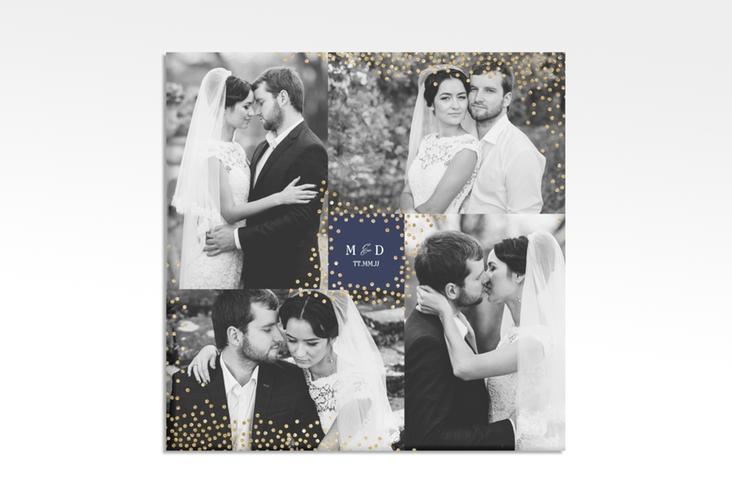 "Hochzeitscollage Leinwand ""Glitter"" 30 x 30 cm Leinwand blau"