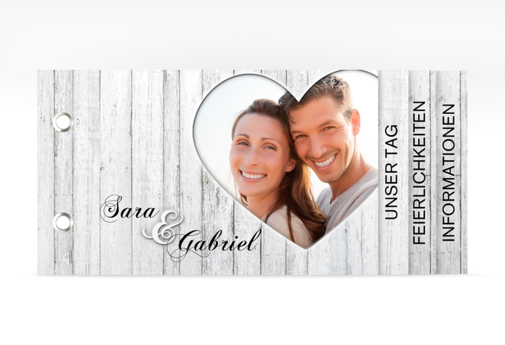 """Hochzeitseinladung """"Herz"""" Booklet"""