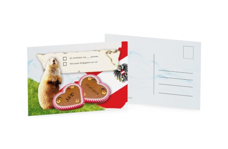 Biglietti risposta matrimonio collezione Alpi A6 Postkarte Austria