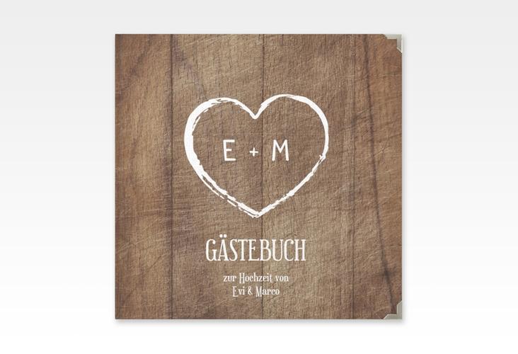 "Gästebuch Selection Hochzeit ""Wood"" Hardcover"