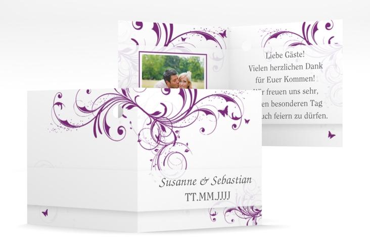 """Geschenkanhänger Hochzeit """"Palma"""" Geschenkanhänger 10er Set lila"""