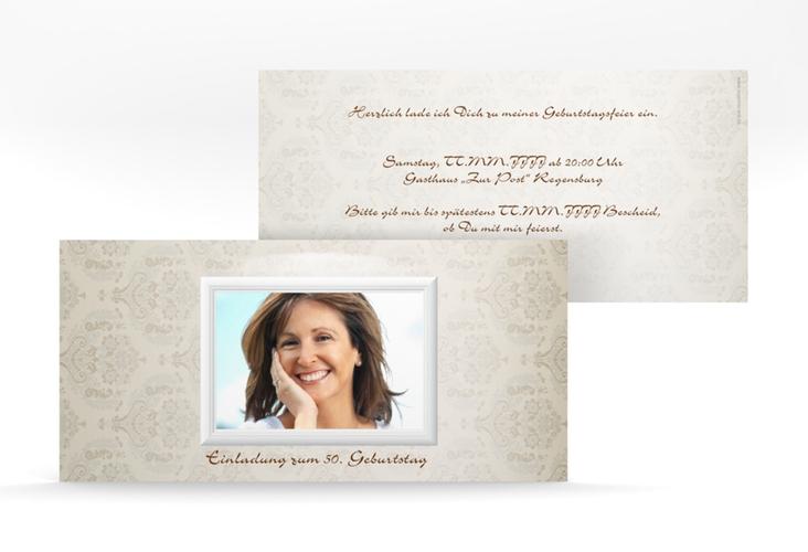 """Einladungskarte """"Elke"""" DIN lang"""
