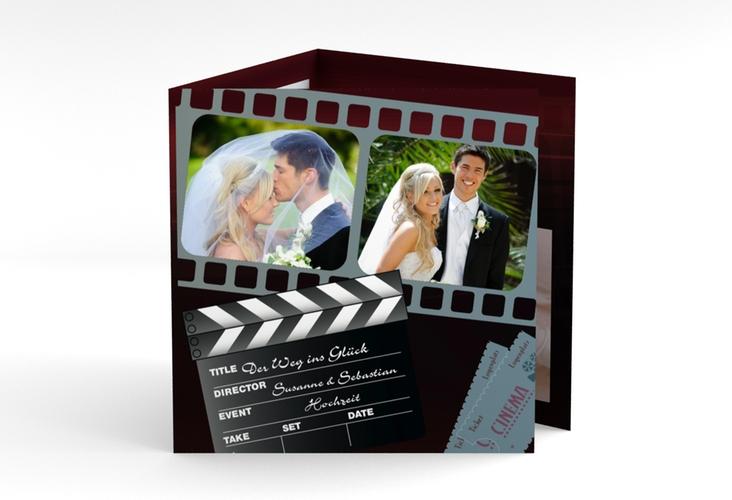 "Dankeskarte Hochzeit ""Bottrop"" Quadr. Karte doppelt"