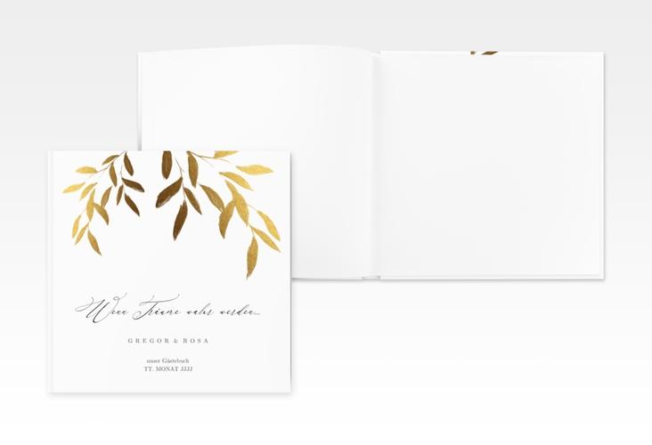 "Gästebuch Creation ""Demure"" 20 x 20 cm, Hardcover weiss"