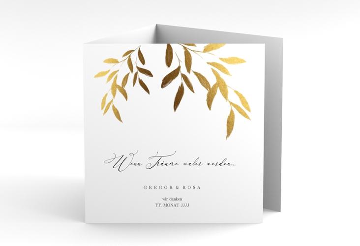 """Dankeskarte Hochzeit """"Demure"""" Quadr. Karte doppelt"""