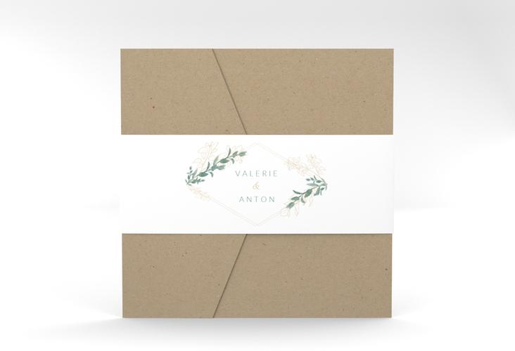"""Hochzeitseinladung """"Verde"""" Pocketfold"""