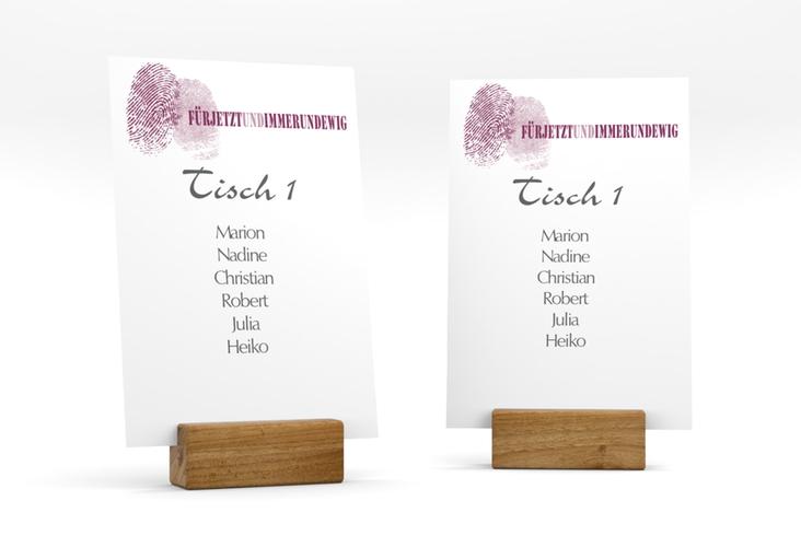 """Tischaufsteller Hochzeit """"Messina"""" Tischaufsteller lila"""