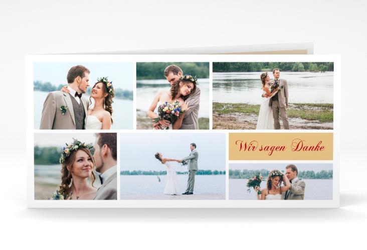 """Danksagung Hochzeit """"Collage"""" DIN lang Klappkarte"""