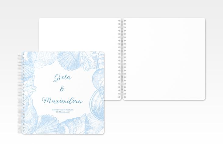 """Gästebuch Hochzeit """"Muschelreich"""" Ringbindung"""