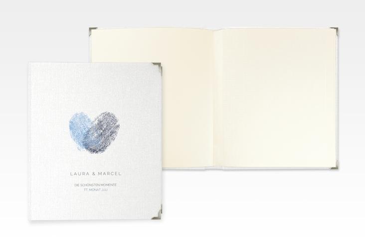 "Hochzeitsalbum ""Fingerprint"" 21 x 25 cm blau"