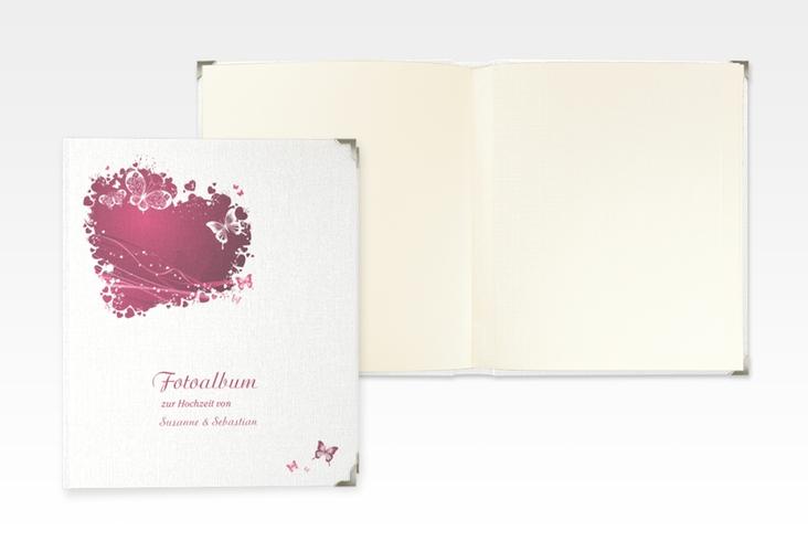 """Hochzeitsalbum """"Mailand"""" 21 x 25 cm pink"""