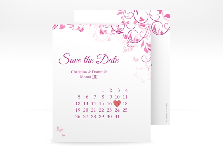 "Save the Date-Kalenderblatt ""Lilly"" Kalenderblatt-Karte"