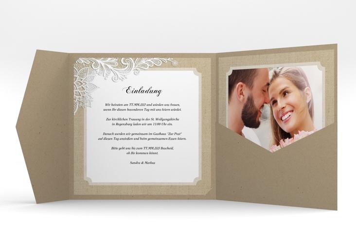 """Hochzeitseinladung """"Lace"""" Pocketfold"""