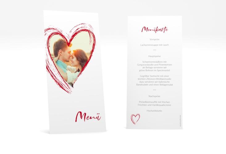 "Menükarte Hochzeit ""Liebe"" DIN lang hoch"