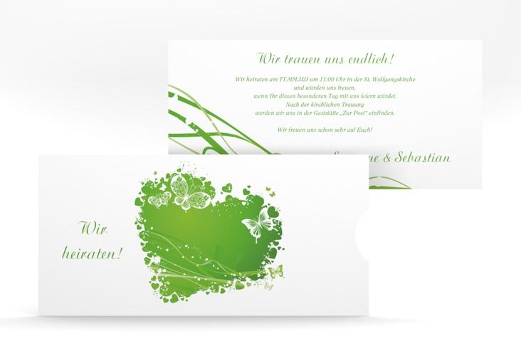 """Hochzeitseinladung """"Mailand"""" Einsteckkarte gruen"""