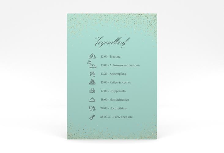 """Tagesablauf Poster Hochzeit """"Glitter"""" 50 x 70 cm Poster mint"""
