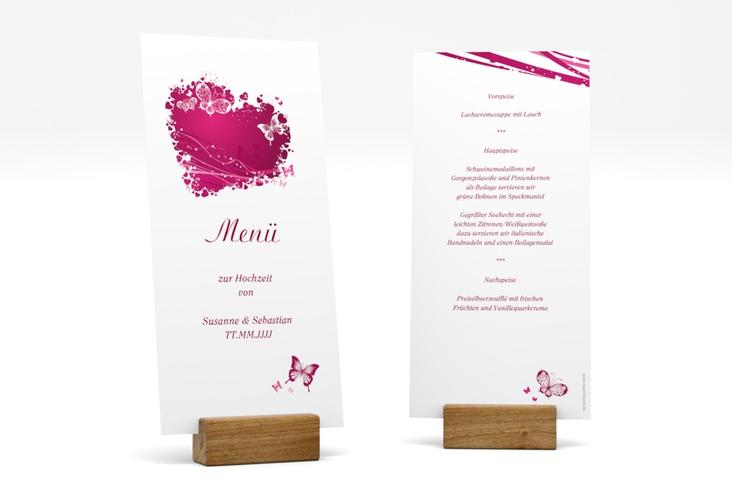 """Menükarte Hochzeit """"Mailand"""" DIN lang hoch"""