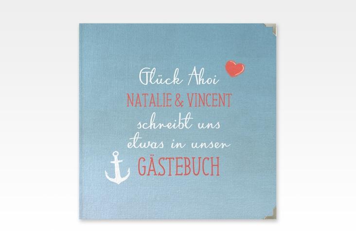 """Gästebuch Selection Hochzeit """"Ehehafen"""" Leinen-Hardcover"""
