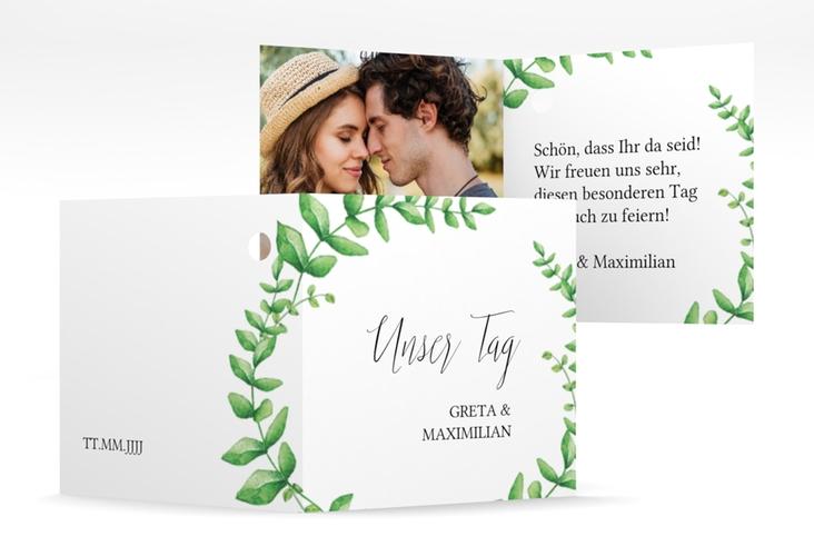 "Geschenkanhänger Hochzeit ""Botanic"" Geschenkanhänger 10er Set weiss"