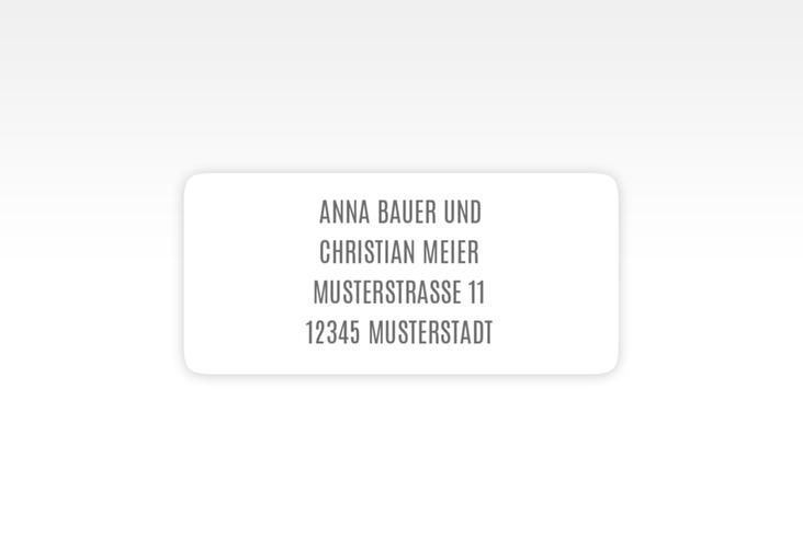 """Absenderetikett Hochzeit """"Amazing"""" 45,7 x 21,2 mm"""