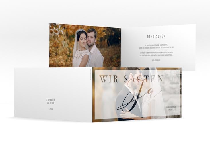 """Danksagungskarte Hochzeit """"Amazing"""" DIN lang Klappkarte"""