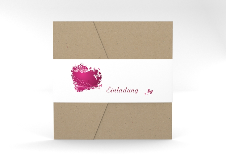 """Hochzeitseinladung """"Mailand"""" Pocketfold"""