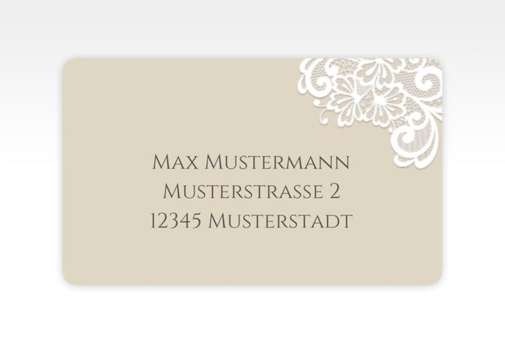 """Empfängeretikett Hochzeit """"Vintage"""" 63,5 x 38,1 mm beige"""
