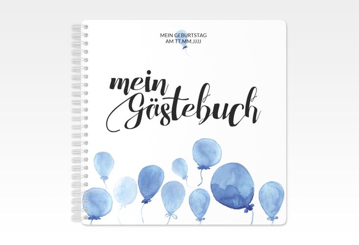 "Gästebuch Geburtstag ""Ballon"" Ringbindung blau"