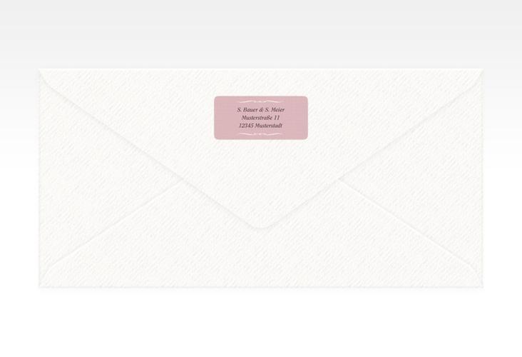 """Absenderetikett Hochzeit """"Montreux"""" 45,7 x 21,2 mm rosa"""