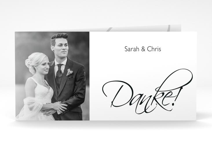 "Danksagungskarte Hochzeit ""Clarity"" DIN lang Klappkarte"