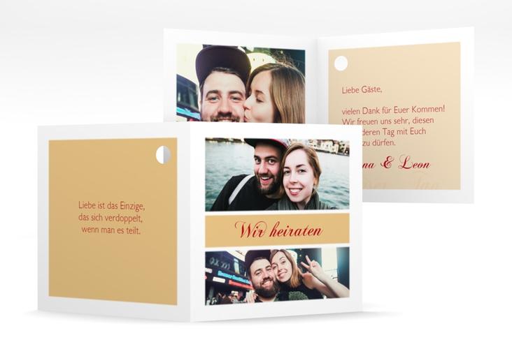 """Geschenkanhänger Hochzeit """"Collage"""" Geschenkanhänger 10er Set apricot"""
