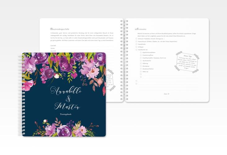 """Trautagebuch Hochzeit """"Violett"""" Trautagebuch Hochzeit blau"""