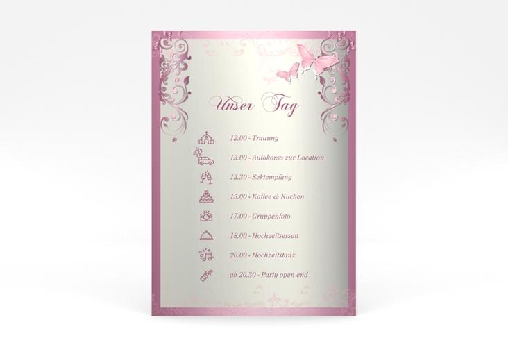 "Tagesablauf Poster Hochzeit ""Toulouse"" 50 x 70 cm Poster rosa"