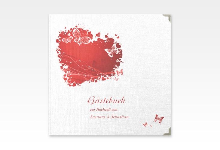 "Gästebuch Selection Hochzeit ""Mailand"" Leinen-Hardcover rot"