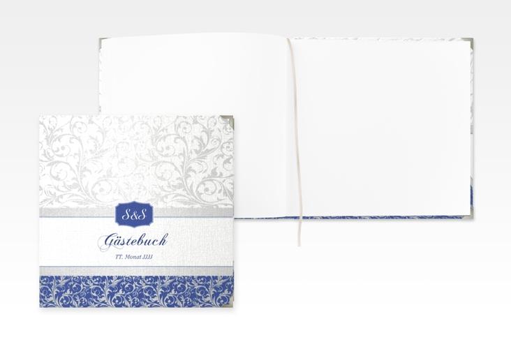 """Gästebuch Selection Hochzeit """"Latina"""" Leinen-Hardcover blau"""