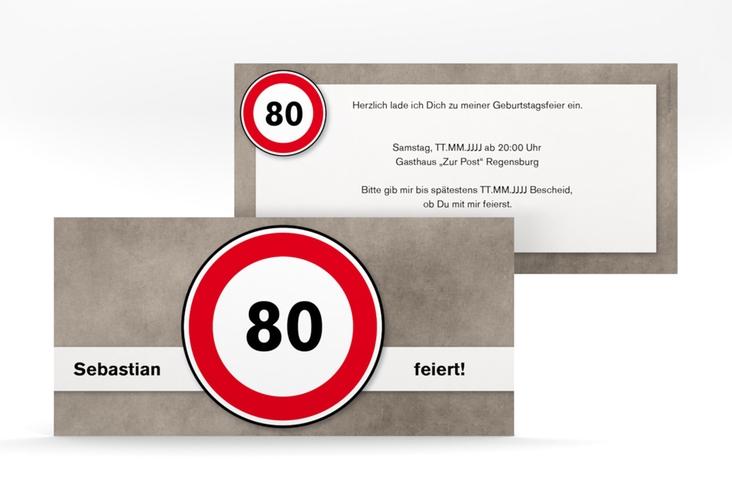 "Einladungskarte ""Emil/Emma"" DIN lang"