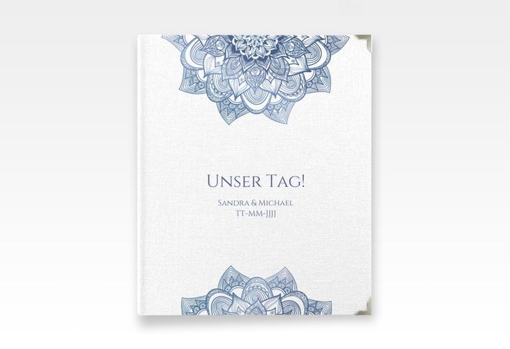 """Hochzeitsalbum """"Delight"""" 21 x 25 cm blau"""