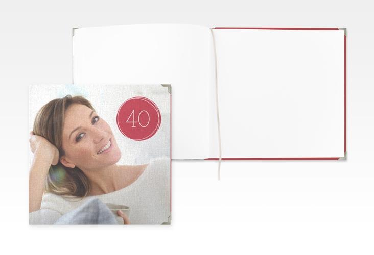 """Gästebuch Selection Geburtstag """"Twister"""" Leinen-Hardcover"""