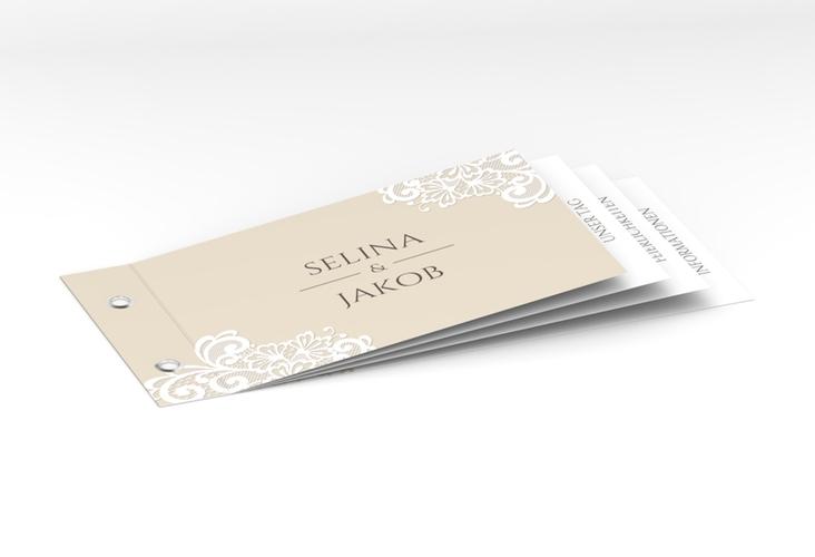 """Hochzeitseinladung """"Vintage"""" Booklet"""