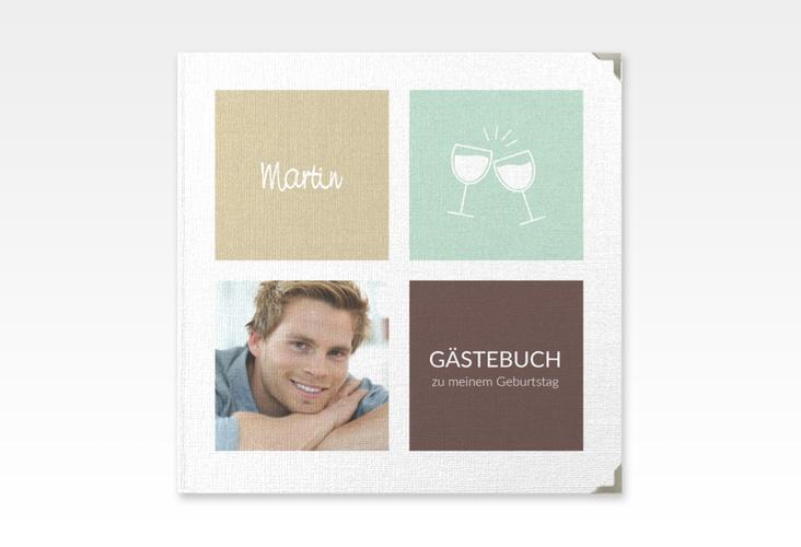 """Gästebuch Selection Geburtstag """"Celebration"""" Leinen-Hardcover braun"""