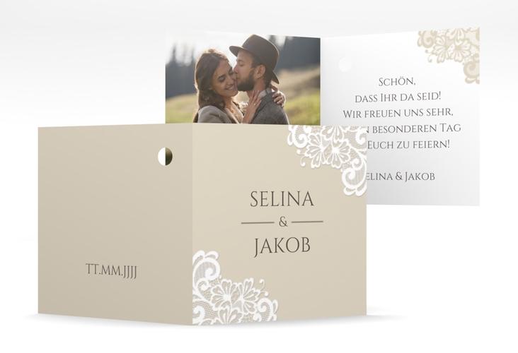 """Geschenkanhänger Hochzeit """"Vintage"""" Geschenkanhänger 10er Set beige"""