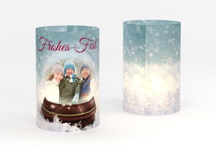 """Windlicht Weihnachten """"Schneekugel"""" Windlicht"""