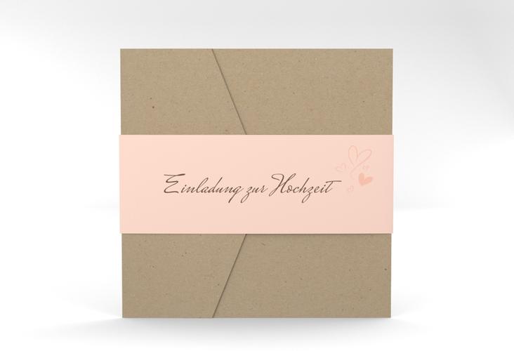 """Hochzeitseinladung """"Purity"""" Pocketfold"""