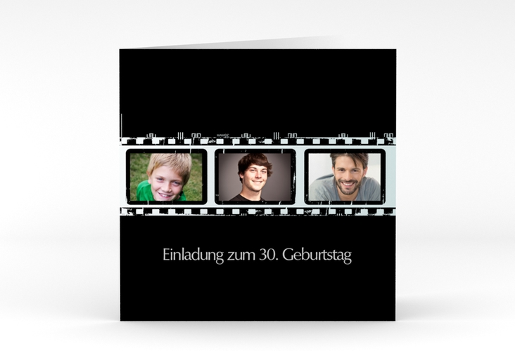 """Einladungskarte """"Christian/Christine"""" Quadratische Klappkarte"""