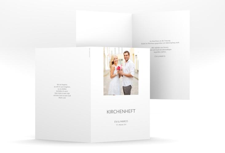 """Kirchenheft Hochzeit """"Vista"""" DIN A5 geklappt"""