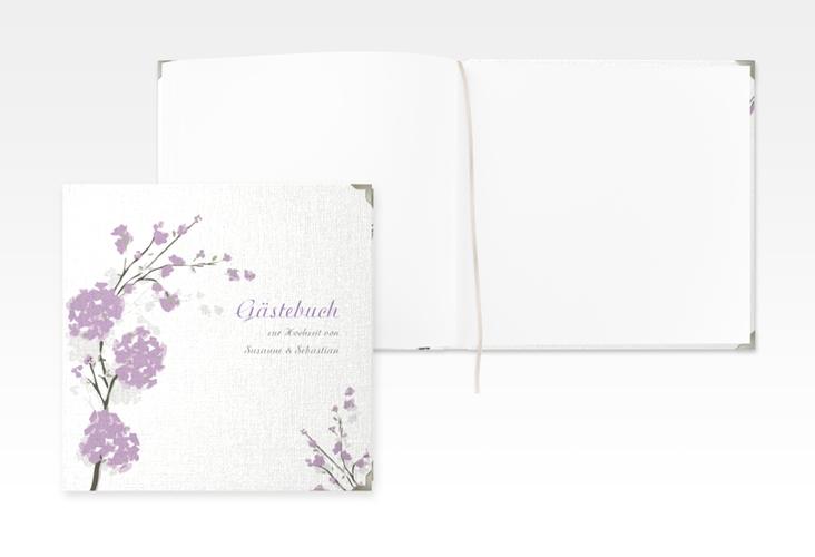 """Gästebuch Selection Hochzeit """"Salerno"""" Leinen-Hardcover flieder"""