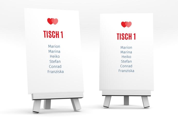 """Tischaufsteller Hochzeit """"Couple"""" Tischaufsteller rot"""