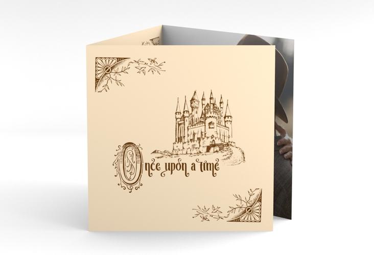 "Dankeskarte Hochzeit ""Storybook"" Quadr. Karte doppelt"