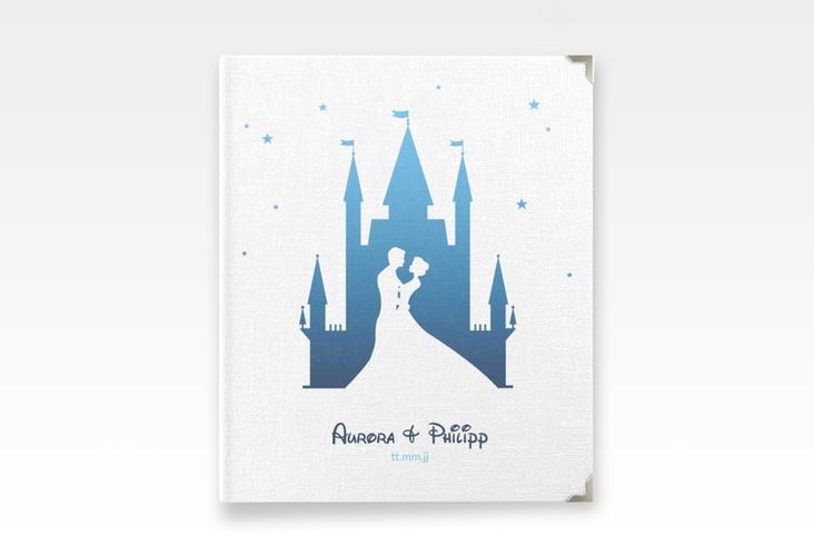"""Hochzeitsalbum """"Castle"""" 21 x 25 cm blau"""
